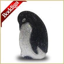 Designer Neue Frauen Abend-handtasche Tier Design Schwarz Rosa voll Luxus Kristall Diamant Clutch Bag Lady Partei Geldbörse DHL freies