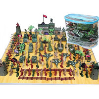 146Pcs Military Plastic Toy Soldier Army Men Figures & Accessories Playset Soldier Model Sandbox Game Model Toy For Kids Boys