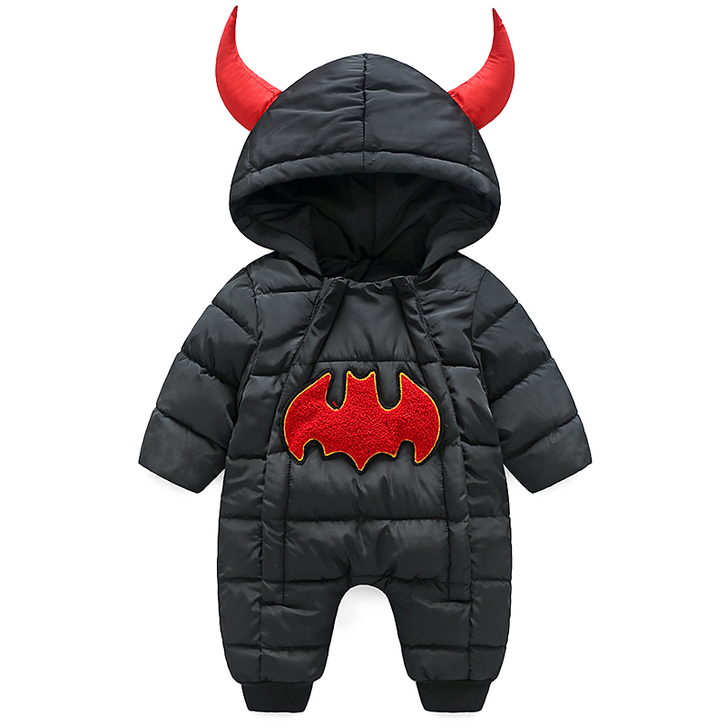 2017 NEW Winter Baby Rompers Winter Thick Warm Baby boy Clothing Long Sleeve Hooded Jumpsuit Kids Newborn Outwear for 0-12M boys winter baby rompers organic cotton baby hooded snowsuit jumpsuit long sleeve thick warm baby girls boy romper newborn clothing