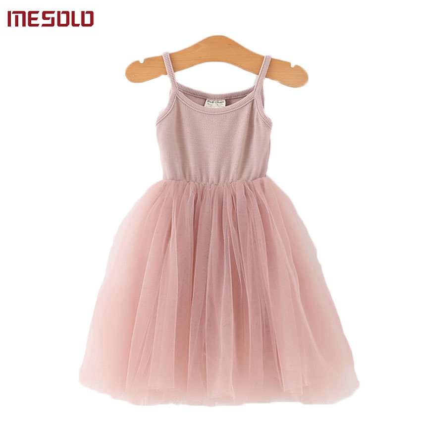 2017 New Girl Baby Korean Knitted Dress 2-3-4-5-6 Spring and Summer Wild Dress aliwilliam 2017 summer new korean wild