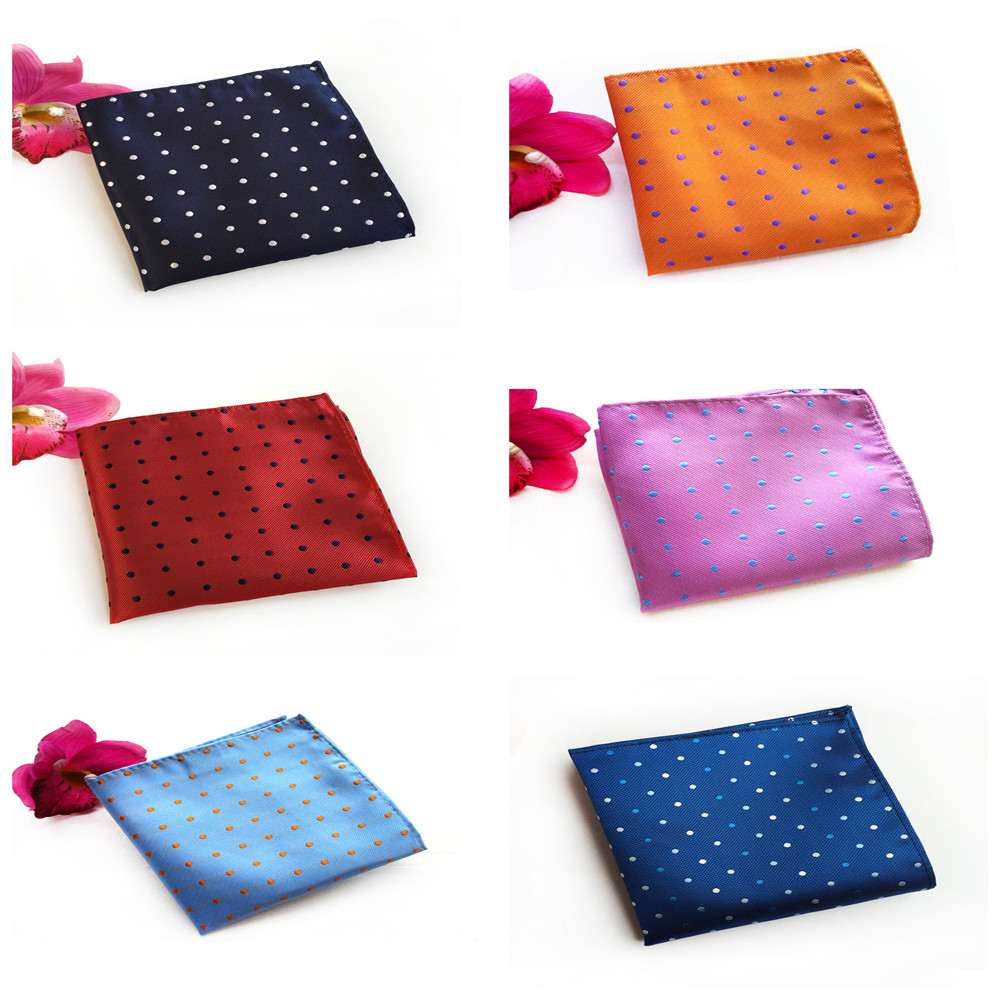High Quality Polyester Material Fashion Polka Dot Dress Pocket Towel Boutique Men's Fashion Business Accessories Handkerchief