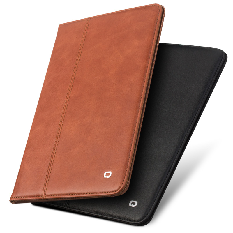 QIALINO Luxury Coque for iPad Pro 10.5 Case Genuine Leather Flip Stand Card Slot Cover For iPad Pro 10.5 Leather Case Folio for coque ipad pro 9 7 case new fashion magnetic closure pu leather stand case book style flip folio cover for ipad pro 9 7 air3