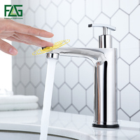 FLG Touch Control Basin Faucets Stainless Steel Tap Smart Touch Sensor Sensitive Bathroom Faucet With Soap Dispenser CP1056 11C