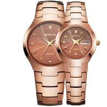 Мужчины смотреть классический GIMTO бренд вольфрамовой стали женские часы кварцевые моды водонепроницаемый бизнес любителей пара наручные часы класса люкс
