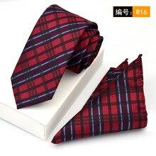 100% Cotton Skinny 6 cm Floral Necktie Set with Pocket Square Fashion Ties for Men Slim Cravat Neckties Mens 2017 Gravata