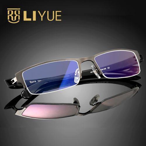 Оптические кадра очков половиной обода очки кадр компьютерные очки рецепту очки очки очки 9019