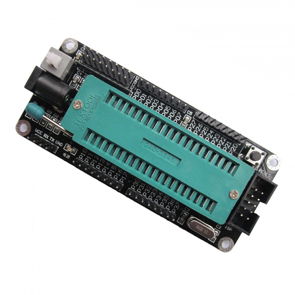 51 single chip microcomputer minimum system board/learning board/development board smart car dedicated system development board the development of 51 single chip learning board 4 4 4 color led lightdiy electronic parts cotted production suite