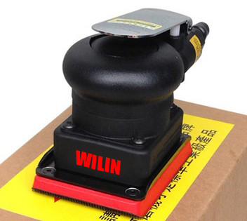 цена на Wilin Pnuematic Sanders Air Tools Palm Orbital Daul Sander Polisher Square Pad WL-A2430 75*100mm 3*4inch Flat Surface Sander