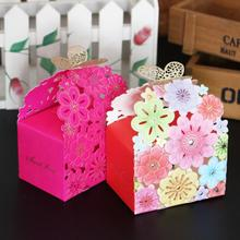 20pcs/lot Gilding Butterfly Flower Wedding Gift Box Luxury Guest Laser Cut Party Favors Sweet Paper Candy
