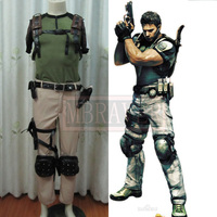 BIOHAZARD 5 / Resident Evil 5 Chris Redfield Cosplay Costume Anime Costom Made Uniform Game Version
