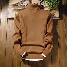 Кашемировый мужской свитер, Новое поступление, мужской Рождественский свитер с длинным рукавом, облегающий Мужской пуловер с высоким воротом MY889