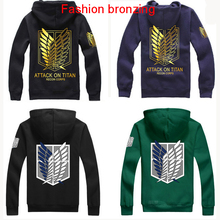 New Shingeki No Kyojin Attack On Titan Cosplay Costume Anime Jacket Scratched Velvet Casual Hoodies Sweatshirt For Unisex