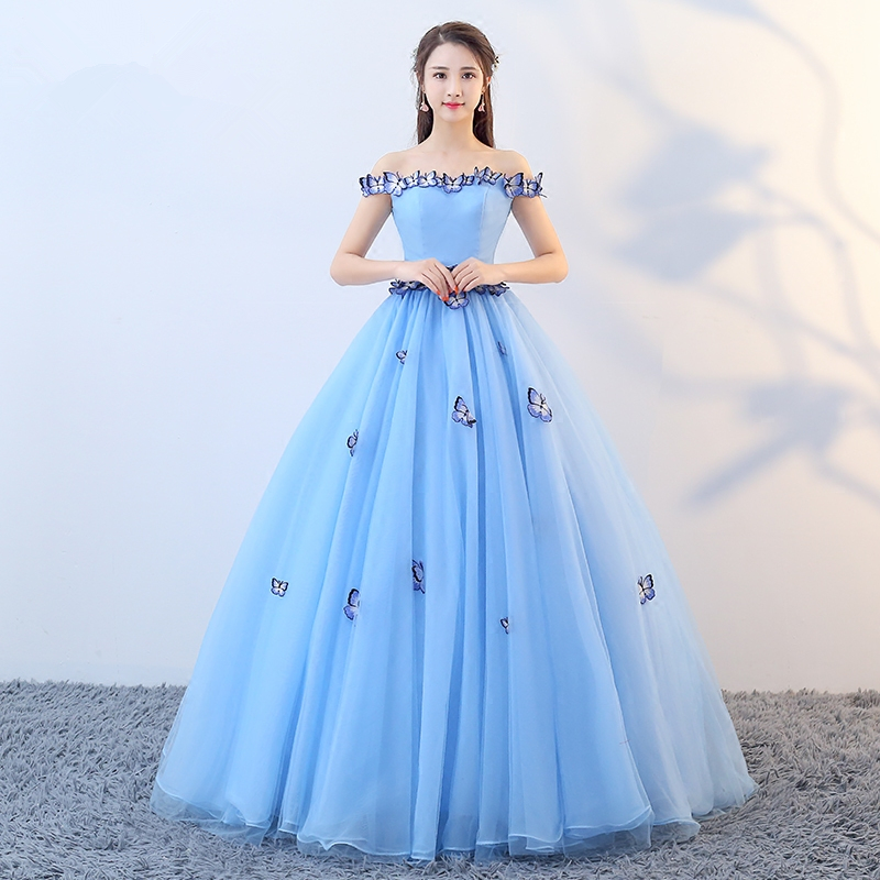 869388be114 abule Quinceanera Dresses 2018 srtapless lace up blue ball gown prom dress  Debutante Gown 15 Years Layer simple Custom sizes-in Quinceanera Dresses  from ...