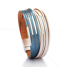 ZG New Fashion Wrap Couples Bracelet For Women Men Multiple Layers Leather Bracelets With Slide Simple Statement Jewelry 2019