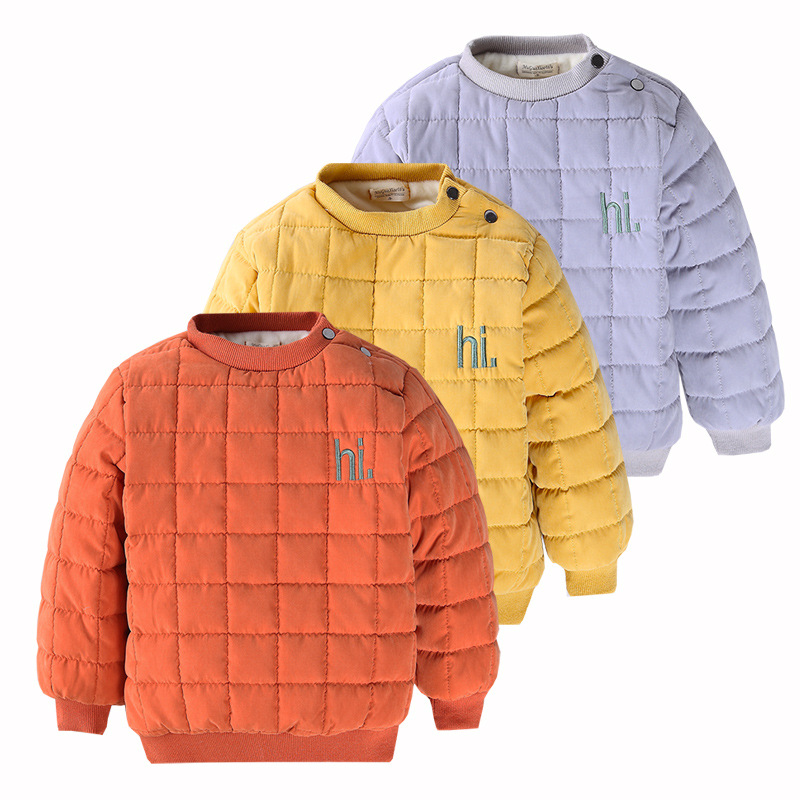 2018 Winter Children Solid Cotton Sweaters Kids Girls Boys Long Sleeve Casual Thicken Warm Tops Baby Clothes 1-7 Years New