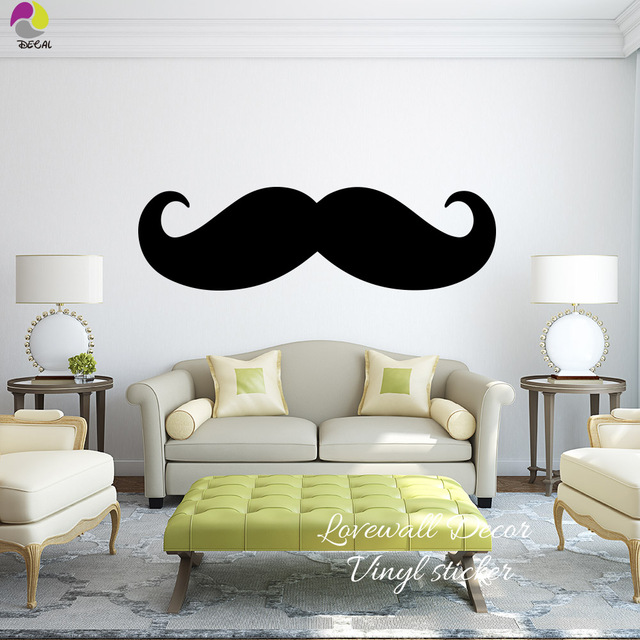 Large Size Mustache Wall Sticker Bedroom Sofa Giant Mustache Wall ...