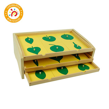 Baby Toy Montessori Material Botany Leaf Cabinet with Insets Early Childhood Preschool Kids Teaching Aids baby toy montessori material sensory teaching aids foot balance hand balance early education home children toy