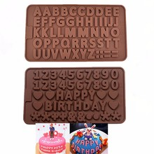 1PCS Double 26 Letters Shape Silicone Chocolate Mold , Ice, Cupcake, Lollipop,& Sugar Tool