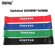 ITSTYLE Resistance Bands 4 Levels 600MM Natural latex Elastic Fitness Training Workout Pull Rope Yoga Loop Band(China)