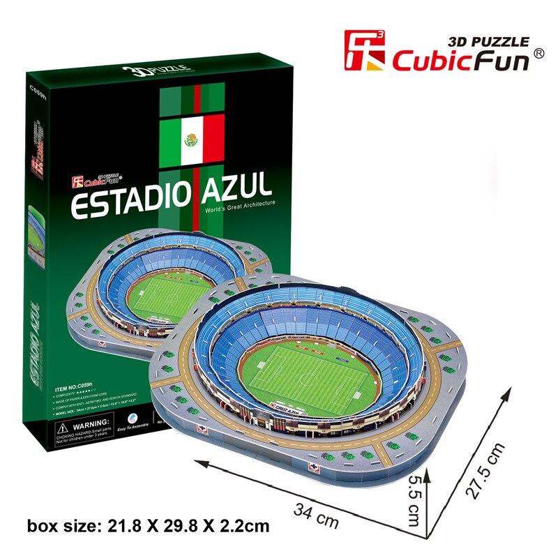 Soccerwe 3D campo de fútbol puzle Estadio Azul bernabou Corinthians Santos minoiro Boca Juniors Calderón cartón delicado
