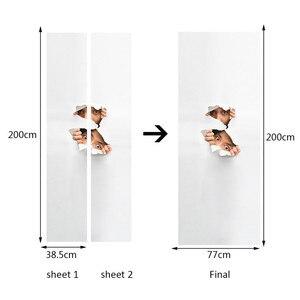 Image 3 - Autocollant de porte murale 3D epluchage
