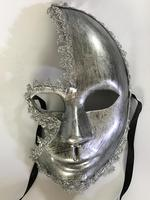 Handmade Silver Masquerade Masks Latex Female Mask Funny Party Mask Wedding Event
