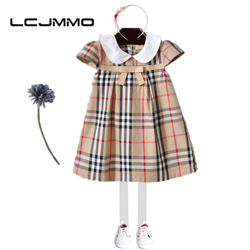 Подробнее о LCJMMO New Girls Party Dresses Summer 2017 Brand Kids Bow Plaid Dress Princess Costumes for Girl Children Clothes 2-7 Years bear leader girl dresses 2016 brand girls costumes princess dress kids clothes sleeveless bow plaid pattern girls dress children