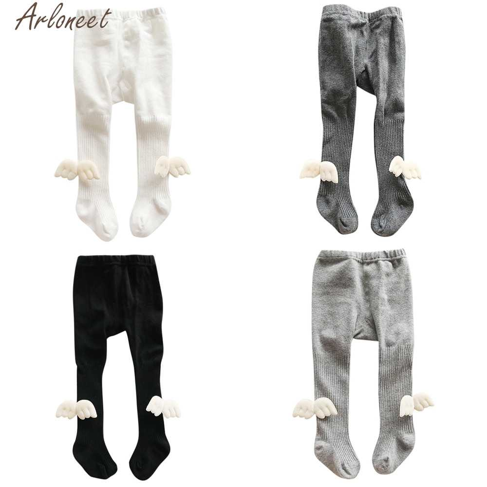 ARLONEET Newborn Girls stockings Elastic Striped Angel Wings Panty-hose tights for girls baby girl tights winter stockings girl