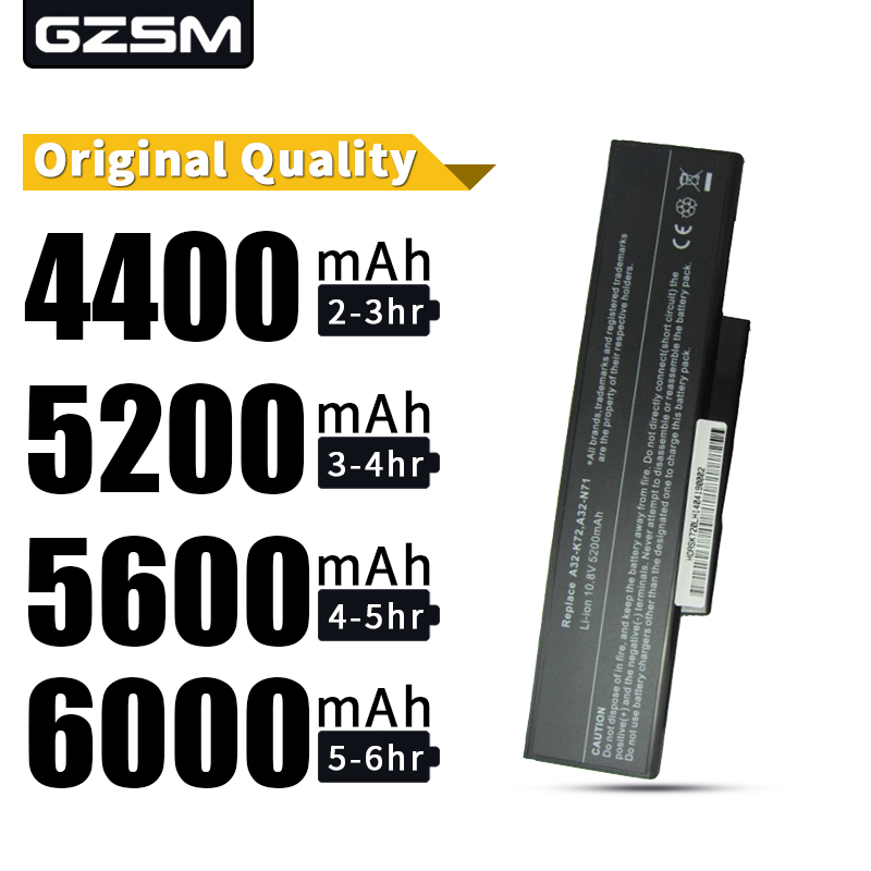 A HSW 6 Células Bateria Do Portátil Para ASUS A32-K72 A72 A72D A72DR A72F A72J A72JK A72JR K72 K72D K72DR K72DY K72F k72J K72JA bateria