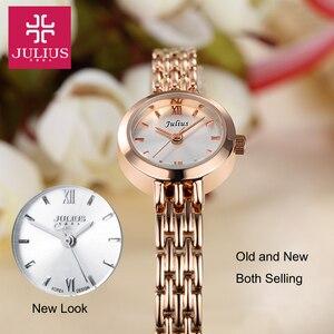 Image 2 - Julius Box reloj Mini dorado de 20mm para mujer, reloj de cuarzo japonés, pulsera pequeña, cadena, regalo de cumpleaños