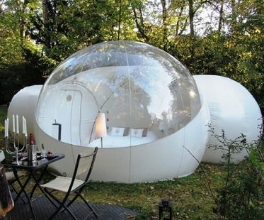 Clear inflatable bubble tent with tunnel FOR SALE China