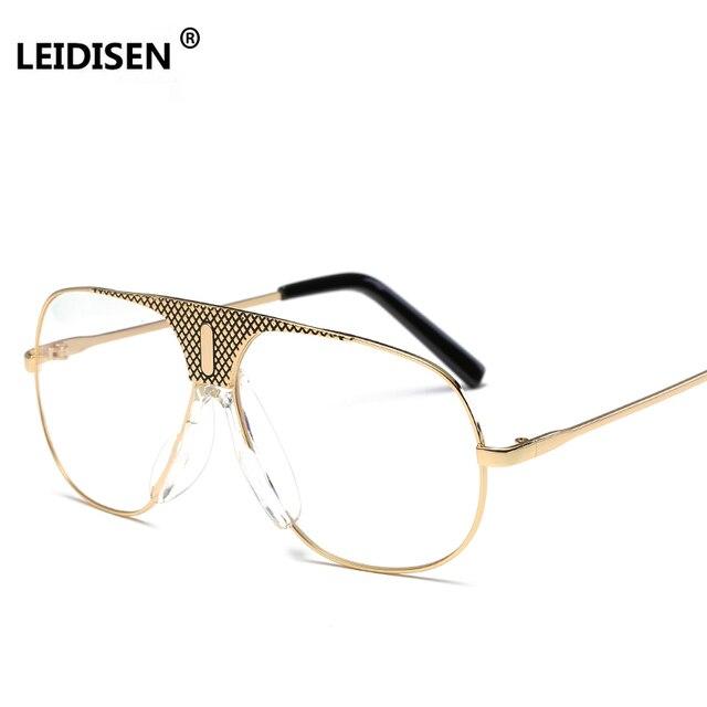 3c14c4d482a New Pilot Eyeglasses Frames Women Fashion Unisex Eye glasses Clear Glasses  Frame Men Vintage Spectacles Brand gafas UV400