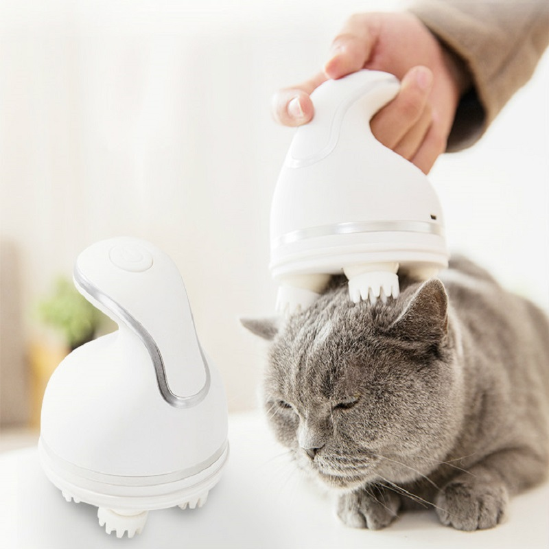 Electric cat massager automatic grooming pet intelligent charging cat massager cat brush products for pets