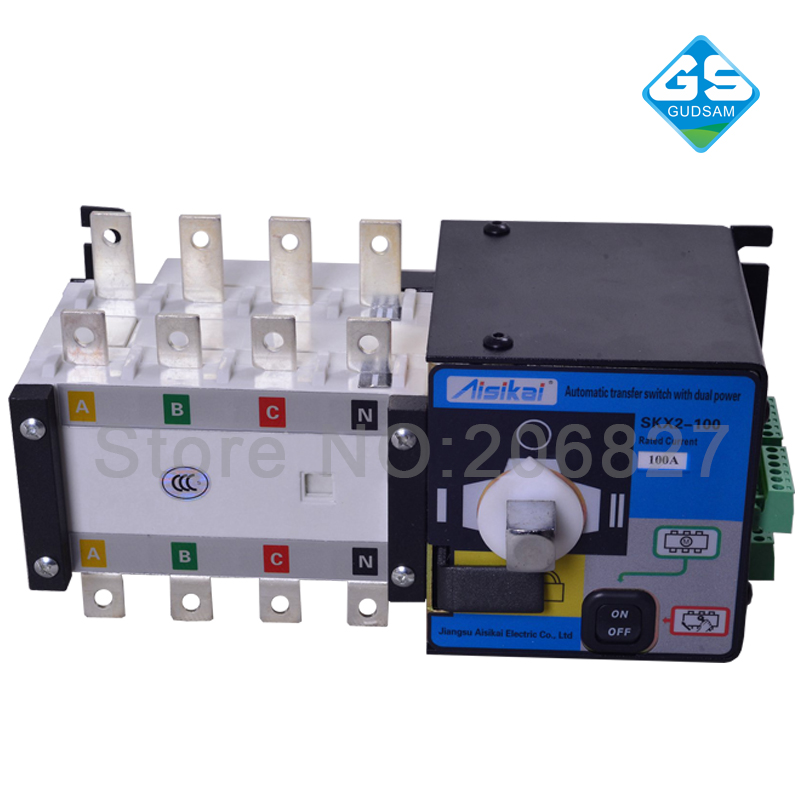 100A three phase genset ATS. automatic transfer switch 4P(ATS 100A) fast shipping syk2 100a 4p suyang ats