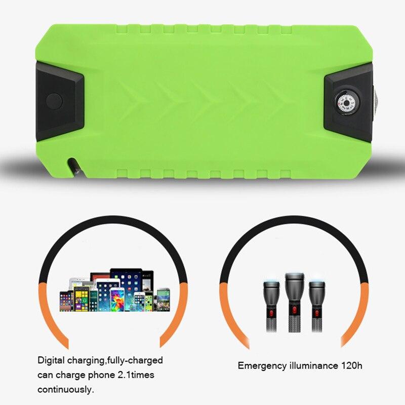 Chargeur automatique de batterie de secours de démarreur de saut de voiture batterie externe 4.0 Lgas ou 3.0L puissance de secours de moteur Diesel