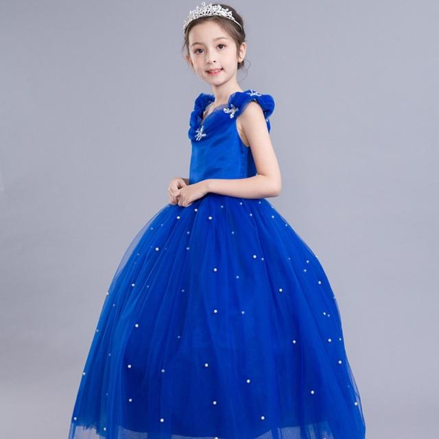 510b10185c53 Royal Blue Flower Girl Dresses for Wedding Cinderella Girls Dress ...