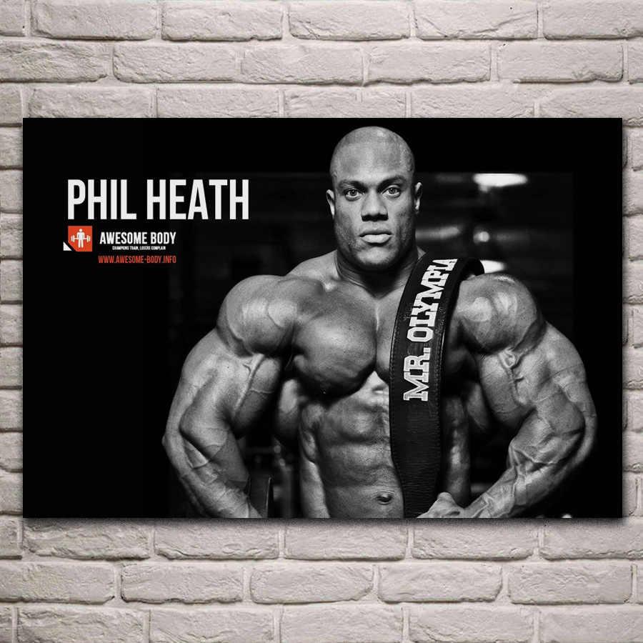 Phil Heath Bodybuilding Motivational Art Silk Canvas Poster 12x18 24x36 inch