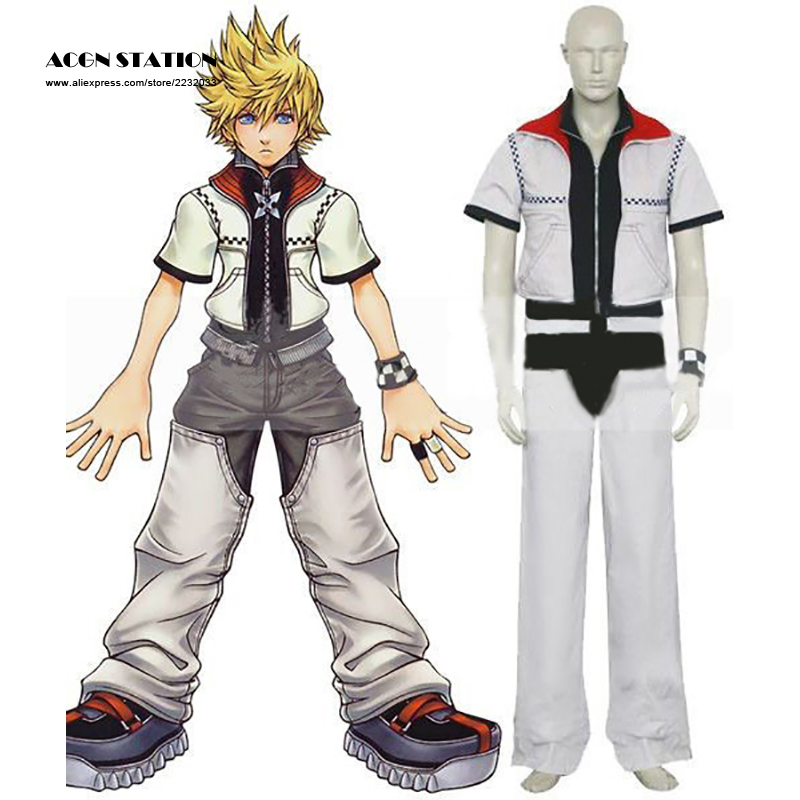 2017 New Fashion Kingdom Hearts Roxas Cosplay Costume  For Halloween  Party   Musical
