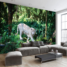 Creative Forest  Animal Tiger Wallpaper Canvas Sofa TV Background Mural photo wallpaper Living Room Bedroom Home Decor YBZ180