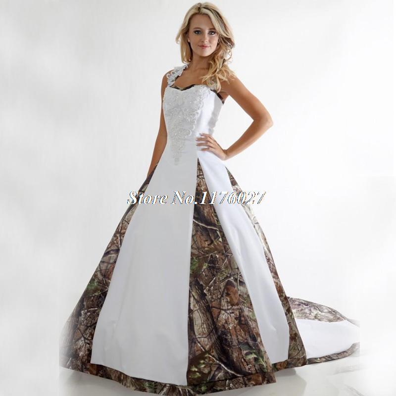 plus size camo wedding dress lace white camouflage ball gown bridal dress chapel train vestido de noiva robe de mariage c59 in wedding dresses from weddings