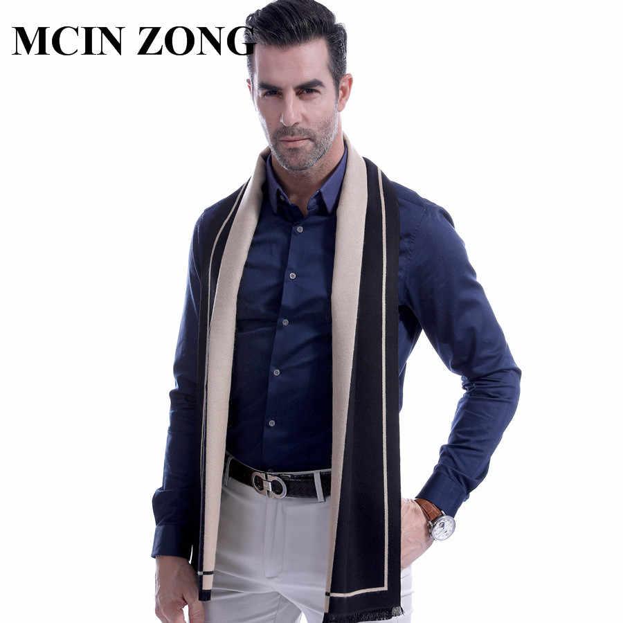 男性スカーフ冬秋の男スカーフラップショール厚い男性のスカーフ暖かい綿カシミヤウールブレンドニット起毛スカーフ