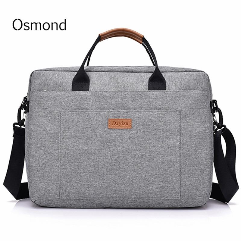Osmond Women Men Canvas Briefcase 16 Inch Laptop Shoulder Bag For Female Male Handbag Business Computer Bag Travel Large Tote