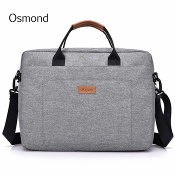 Osmond Women Men Canvas Briefcase 16 inch Laptop Shoulder Bag For Female Male Handbag Business Computer Bag Travel Large Tote