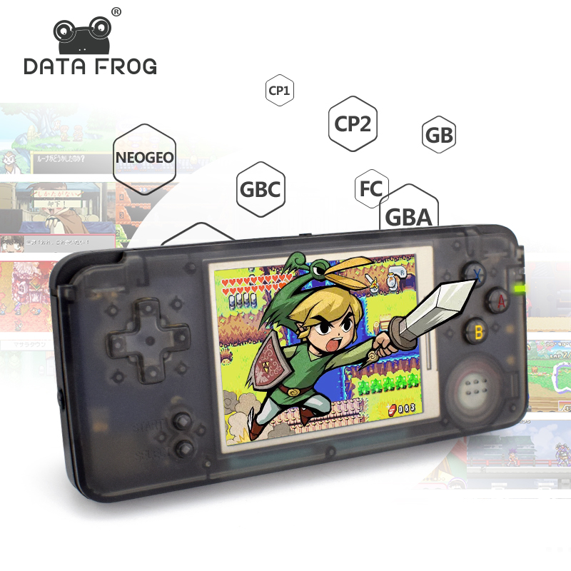 Data Frog Retro Handheld Game Console 3.0 Inch Console Built-in 818 Different Games Support For NEOGEO/GBC/FC/CP1/CP2/GB/GBA nintendo gba video game cartridge console card metroid zero mission eng fra deu esp ita language version