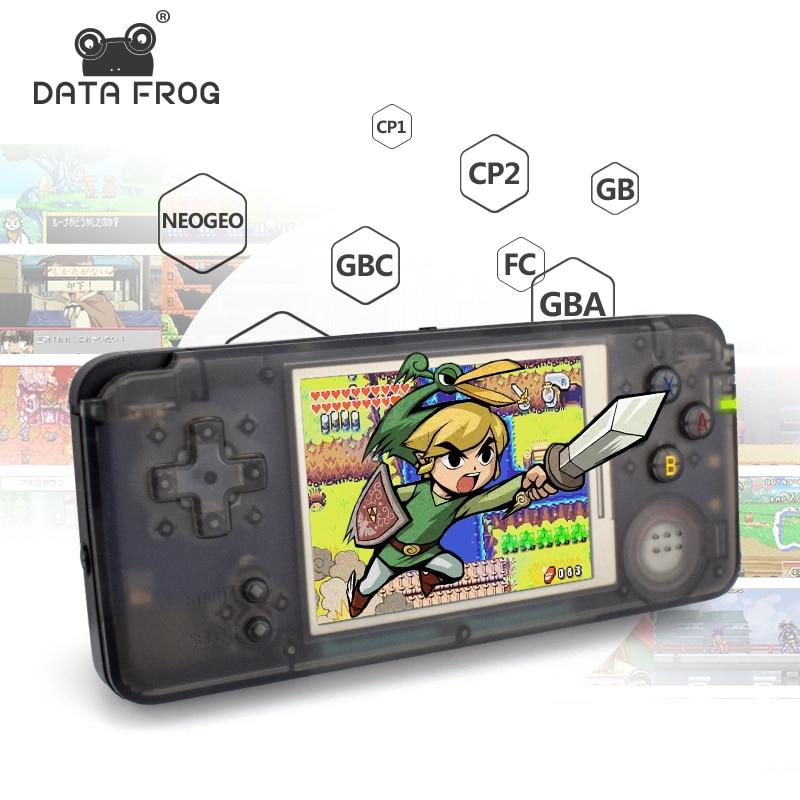 Daten Frosch Retro Handheld-konsole 3,0 Zoll Konsole Eingebaute 818 Verschiedene Spiele Unterstützung Für NEOGEO/GBC/FC/CP1/CP2/GB/GBA