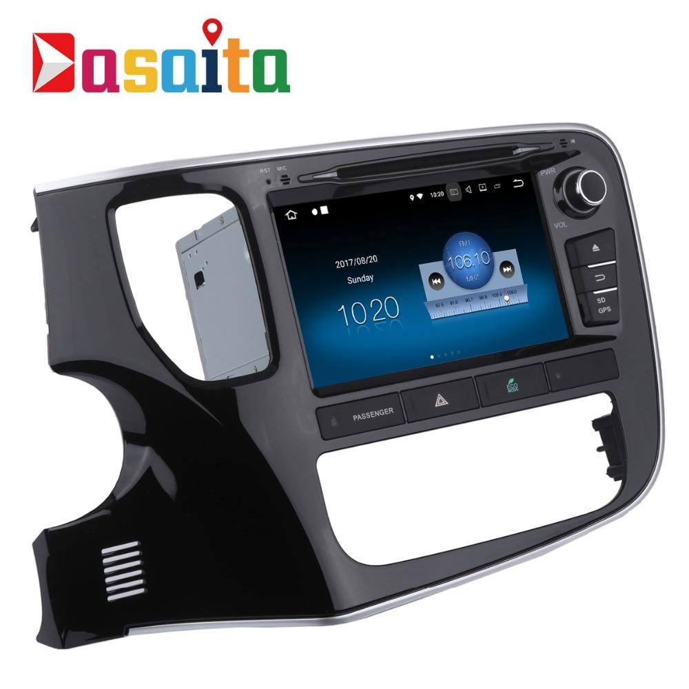 Dasaita 8 Android 7.1 Voiture Lecteur DVD GPS Navi pour Mitsubishi Outlander 2014 2015 avec 2g + 16g Quad Core autoradio Multimédia HDMI