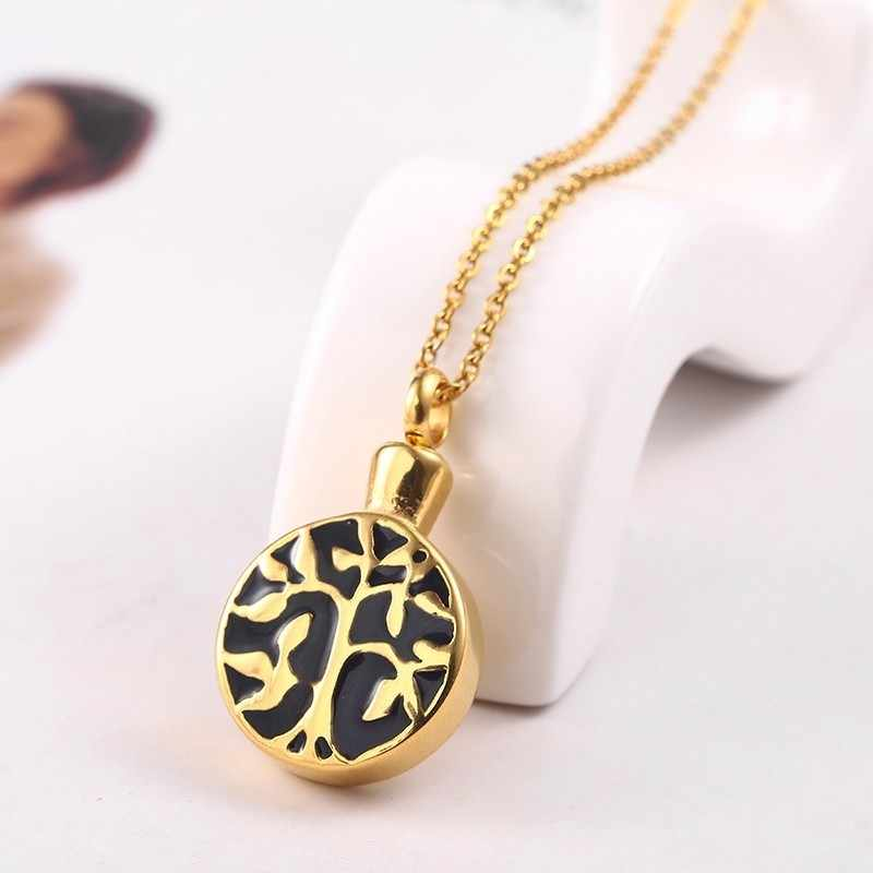 RIR Tree of Life Necklace Urn Pendant Memorial Ashes Keepsake Human Pet  Ashes Cremation Memory In Stainless Steel