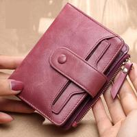 2018 New Ladies Wallets Women Short Wallet Real Leather Large Capacity Fashion Small Coin Purse Genuine Female Clutch Bag