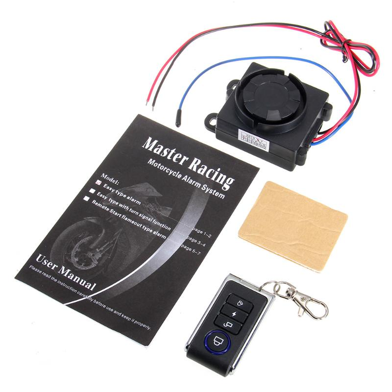 Motorcycle Anti theft Security Alarm System Vibration Detector Remote Control 120-125dB 12V