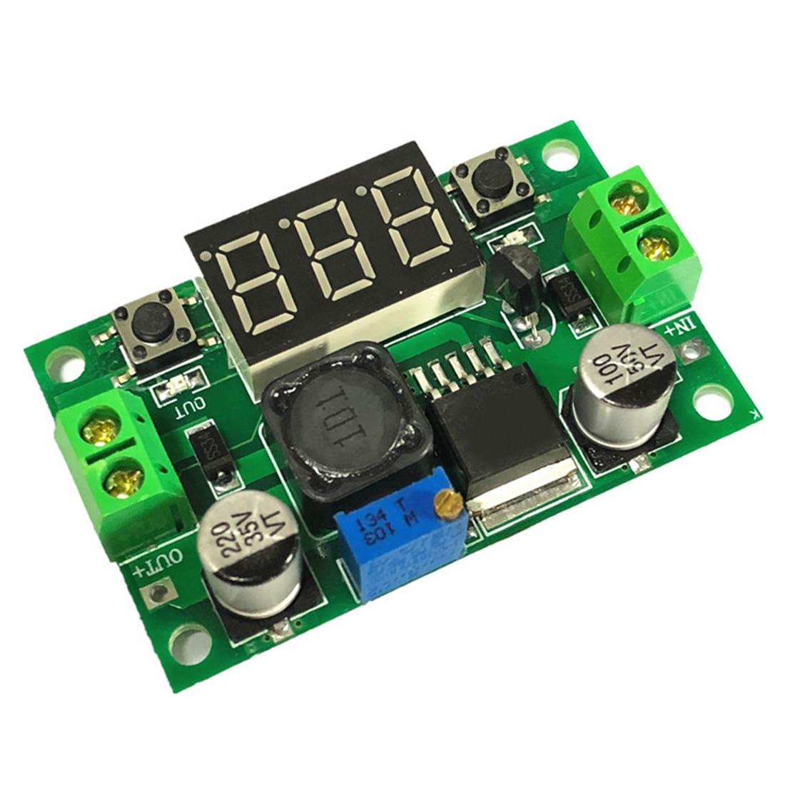 1 Stücke Dc-dc 4,0 ~ 40 V Zu 1,25-37 V Einstellbare Power Supply Module Lm2596 Spannung Regulator Module Mit Spannung Meter Display